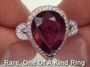Genuine Ruby Diamond Ring Pigeon Blood Red Color - eBay AUCTION $1
