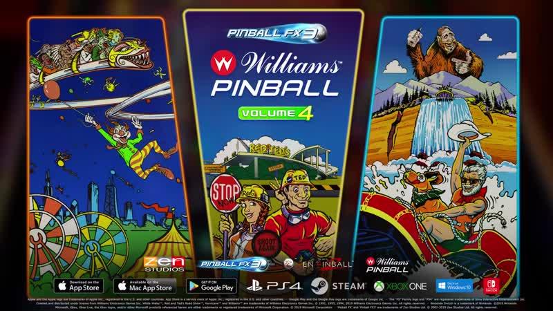 Дополнение Williams Pinball Volume 4 для игры Pinball FX3!