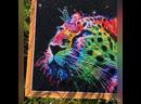 Алмазная мозаика «Неоновый леопард»