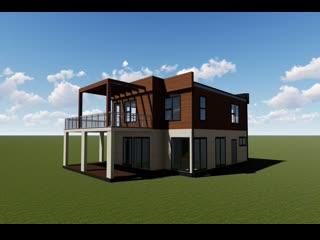 Вот такой интересный дом спроектировали мы для заказчика. Буквально на днях берем его в работу.