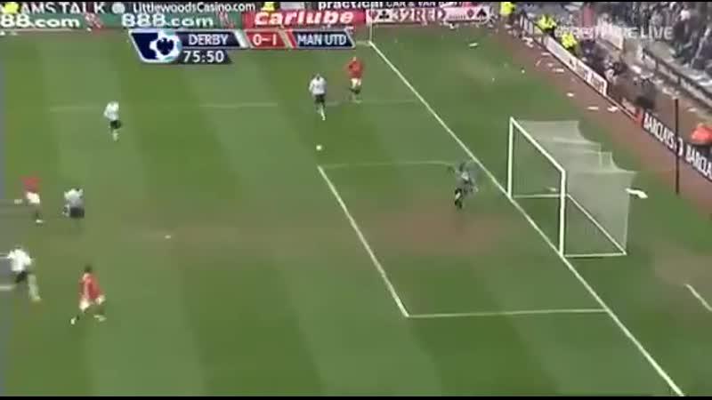 Победный гол Роналду в ворота Дерби Каунти (15/03/2008)