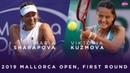 Maria Sharapova vs. Viktoria Kuzmova   2019 Mallorca Open First Round   WTA Highlights