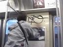 Underground Chicago Graf on CTA trains