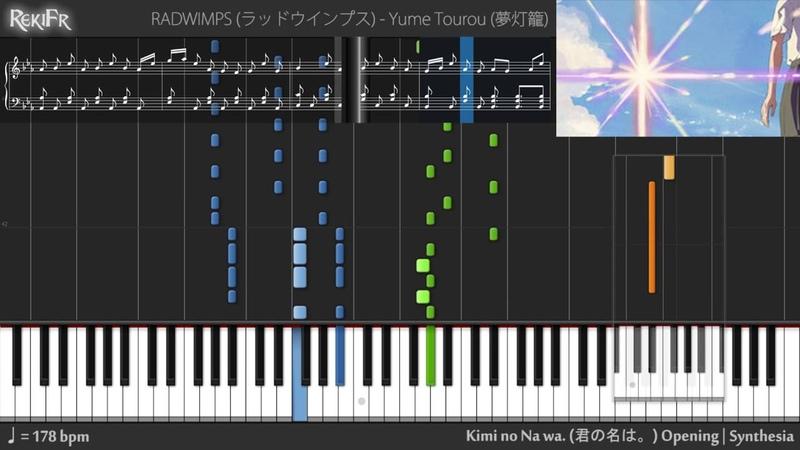 Kimi no Na wa Opening Yume Tourou Synthesia