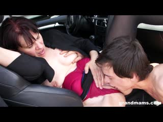 Brunettegranny vicky has sex in front of dirty truck drivers xxx