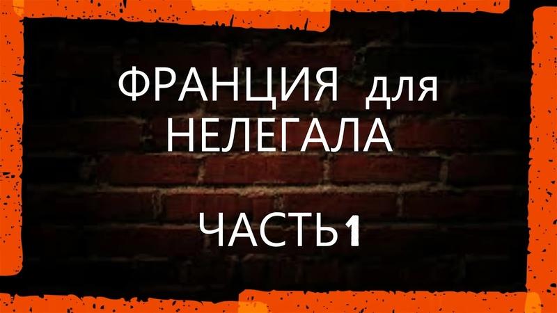 ФРАНЦИЯ для НЕЛЕГАЛА ЧАСТЬ 1. ЖЕСТОКАЯ РЕАЛЬНОСТЬ.