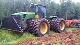 Tractors At Work Tree &amp Bush Clearing, Root Raking