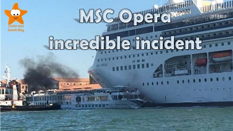 MSC Opera colpisce unaltra nave da crociera nel porto di Venezia