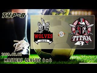 Wolves v/s титан 2 (8 тур). football masters league 6x6. full hd. 2019.07.07