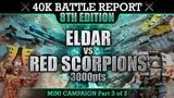 Primaris Space Marines vs Eldar Warhammer 40K Special Battle Report P3 3000pts DOMINATION!