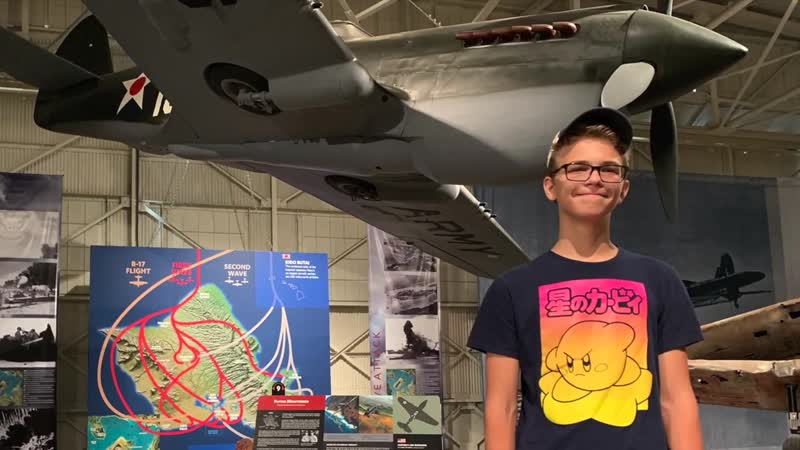 ПЕРЛ ХАРБОР Музей авиации ГАВАЙИ США 2 Мировая война Rud