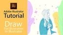 Adobe Illustrator Tutorial|| Create Flat Illustration Based on Photo in Adobe Illustrator SpeedArt
