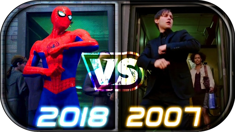 Spider-Man Into The Spider-Verse scenes compared to Spider-Man Trilogy 2002 2004 2007 2018 vs 2019