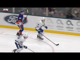 John Tavares scores his first goal against the Islanders