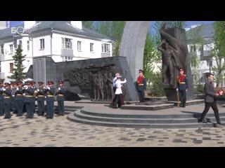 В Юдино открыли обновленную Аллею славы – Вечный огонь для мемориального комплекса привезли из Москвы