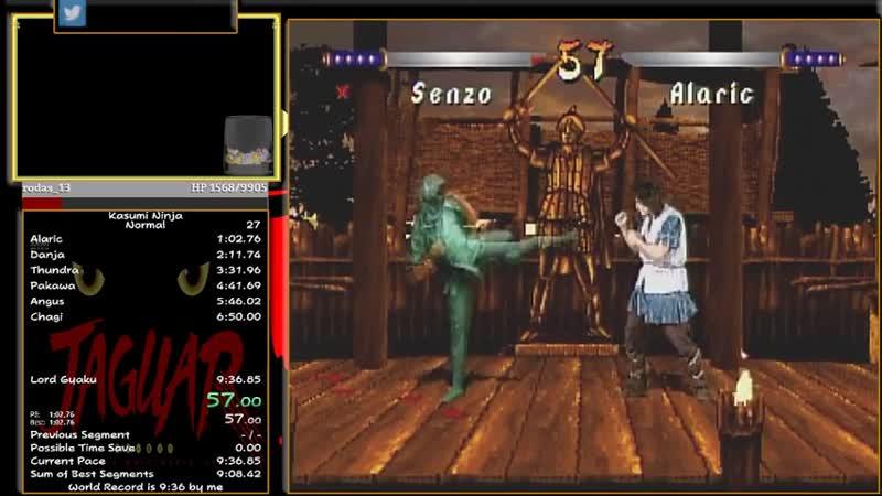 Kasumi Ninja Normal 9 34 WR Speedrun