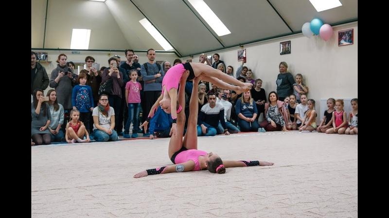 Турнир по акробатике апрель 2019, женская пара Лимонова Мария и Ващенко Анастасия