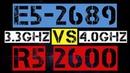 XEON E5 2689 VS RYZEN 5 2600