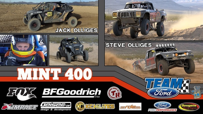 Steve and Jack Olliges at the 2019 BFGoodrich Mint 400