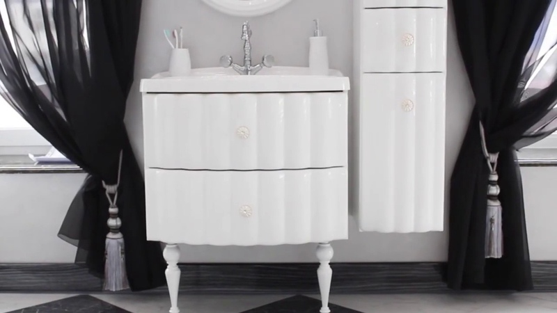 Комплект мебели для ванной Aima Pearl