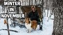 Bushcraft Camp in the Snow - Winter in November