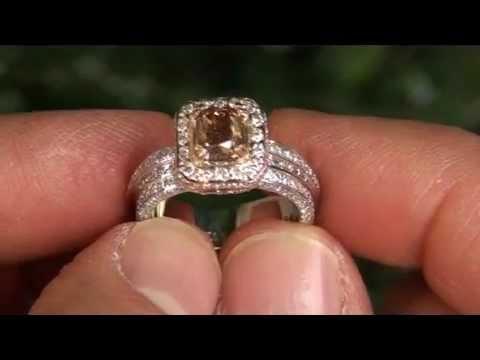 RARE 2.71 Carat Fancy Cognac Diamond Engagement Ring - Antique Estate Jewelry