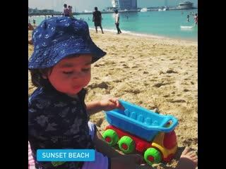 Прекрасные виды пляжа sunset beach 🏖
