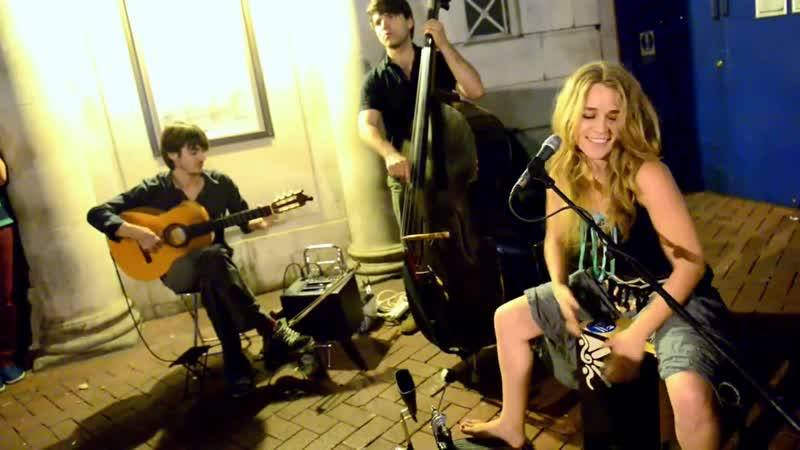 Heidi Joubert on Cajón - Gitano Moro street performance drums Guitar Music