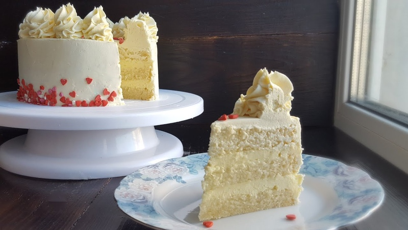 Торт БЕЛЫЙ БАРХАТ 💟ВЗБИТЫЙ ГАНАШ на белом шоколаде💟White velvet cake