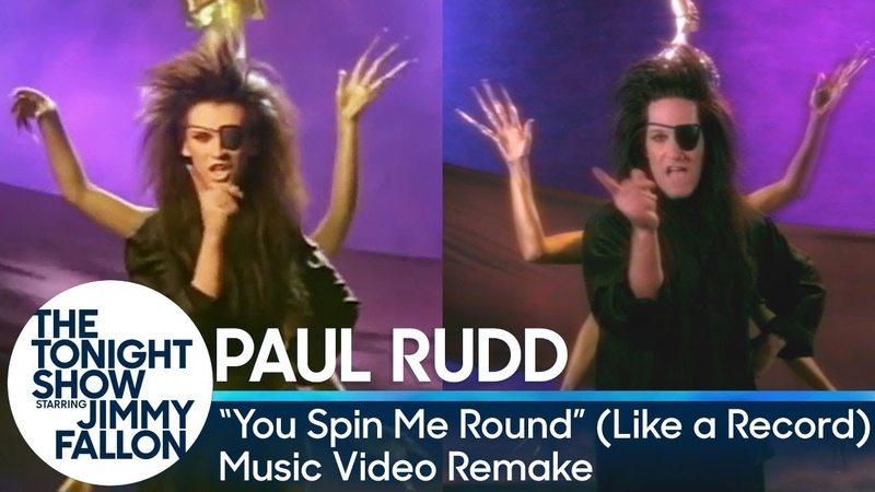 Jimmy Fallon and Paul Rudd Recreate You Spin Me Round Like a Record Music Video