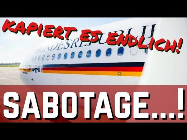Aktuellstes zur Sabotage an den Regierungsfliegern die komischen Praktiken der Lufthansa.