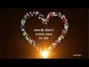 WORDS DON'T COME EASY - ( F. R. DAVID / Lyrics )