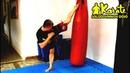 Резиновая нога   Длинный удар маваши на скачке киокушинкай каратэ   Mawashi   High kick