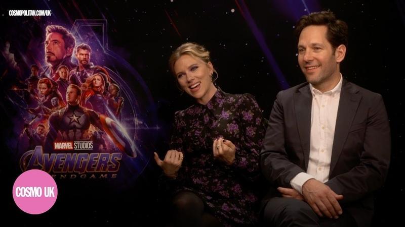 Scarlett Johansson Paul Rudd on weird Avengers Endgame fan questions the secret to Pauls youth