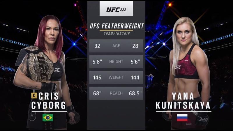 UFC 240 Free Fight: Cris Cyborg vs Yana Kunitskaya