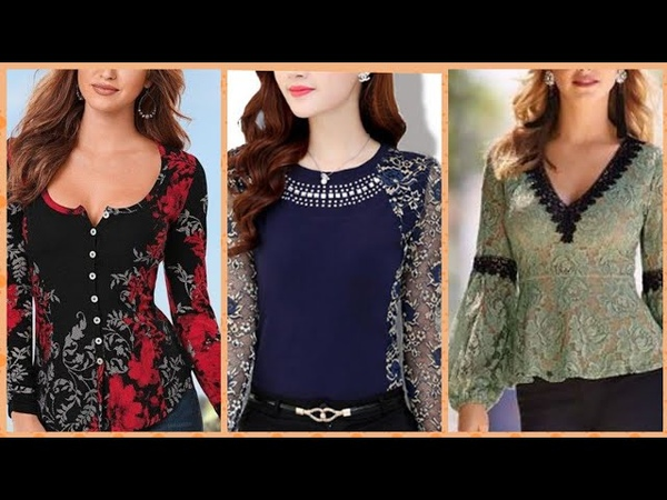New arrival stylish and comfortable shiffon and lace fabric blouse different style of sleeves design