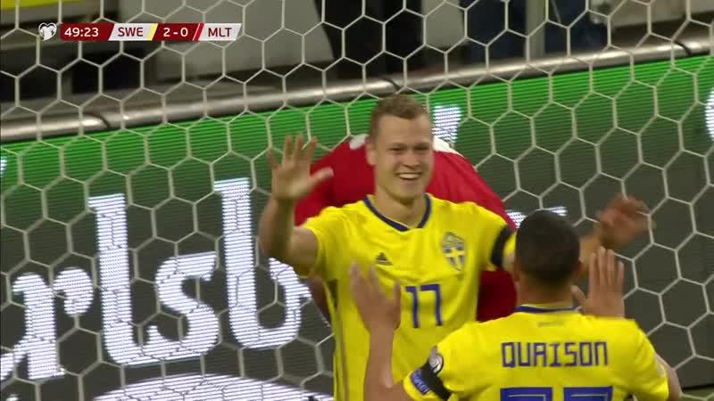 Enkel seier for Sverige - Sverige - Malta 3-0.mp4