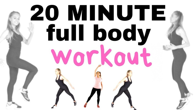 HOME FITNESS 20 MINUTE WEIGHT LOSS WORKOUT -TOTAL BODY AT HOME - BURNS CALORIES AND TONES YOU UP