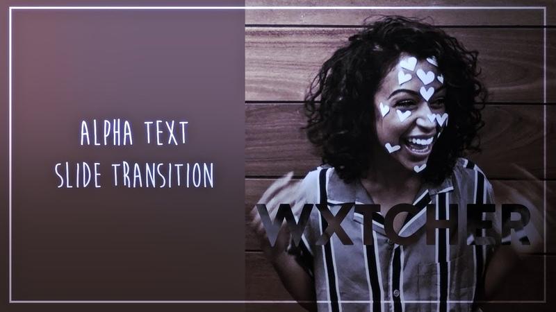After effects | alpha text slide transition