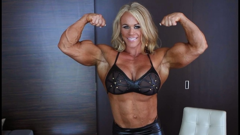 Muscular girl Aleesha Young Девушка накаченная Бодибилдерша
