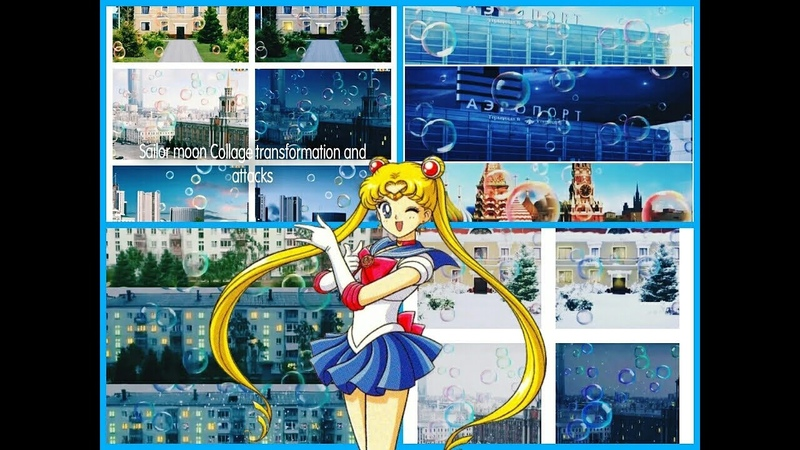 Sailor moon Collage transformation and attacks