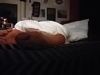 Peeping Tom Foot Fetish Watch her while she Sleep