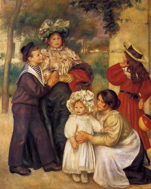 ГАБРИЭЛЬ РЕНАР - ЛЮБИМАЯ МОДЕЛЬ ОГЮСТА РЕНУАРА. После рождения первого ребёнка - сына Жана - мадам Ренуар выписала из Эссуа себе в помощницы шестнадцатилетнюю кузину Габриэль Ренар, которая