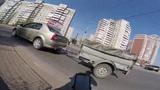 Яндекс такси как всегда торопится на пешеходном)) г.Омск глазами велосипедиста #256