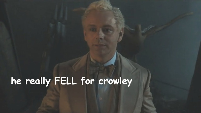 Aziraphale being in love with crowley for 4 minutes straight