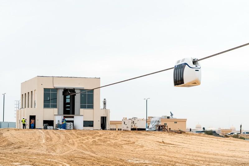 Đường ray hạng nhẹ SkyWay tại Trung tâm Kiểm tra Chuỗi United Arab Emirates