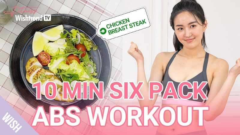 6 Pack Abs Workout Routine You Can Do Anywhere with Quick Easy Meal Prep with Chicken Breast