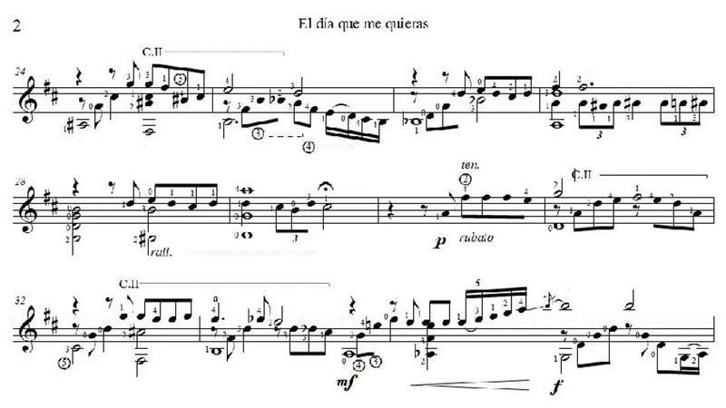 Gardel Lepera - El Día Que Me Quieras for Guitar (Arr. V. Villadangos) - Score video
