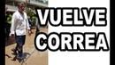 Joven le canta a Rafael Correa Delgado