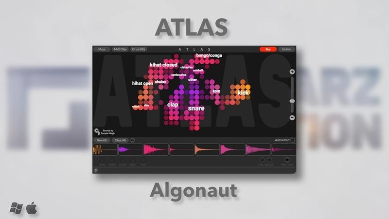 ATLAS Algonaut Драм Сэмплер с Искусственным Интеллектом Playstarz Production